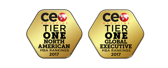 2017 CEO Magazine Tier One North American MBA Ranking; 2017 CEO Magazine Tier One Global Executive MBA Ranking;