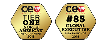 2018 CEO Magazine Tier One North American MBA Ranking; 2018 CEO Magazine Tier One Global Executive MBA Ranking;